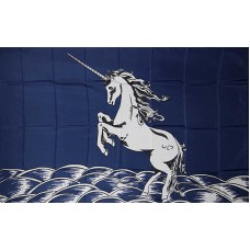 UNICORN BLUE  3'x5' NOVELTY POLY FLAG