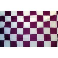 Checkered Purple & White 3'x 5' Flag
