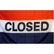 Closed 3'x 5' Business Flag