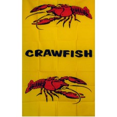 Crawfish Vertical 3'x 5' Business Flag