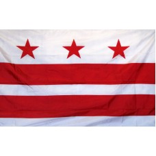 DIST OF COLUMBIA 3'X 5' FLAG NYL-GLO NYLON