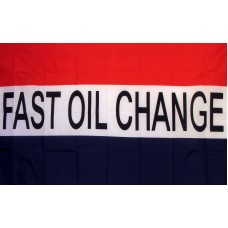 Fast Oil Change 3'x 5' Business Flag