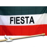 FIESTA 3' x 5'  Flag, Pole And Mount.