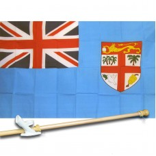 FIJI COUNTRY 3' x 5'  Flag, Pole And Mount.