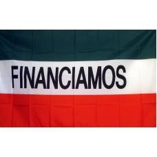Financiamos (Financing) 3'x 5' Business Flag