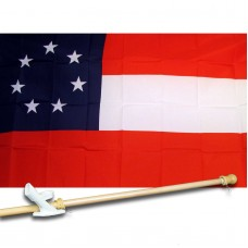 FIRST CON FEDERATE HISTORIAL 3' x 5'  Flag, Pole And Mount.