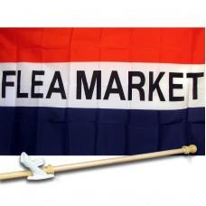 FLEA MARKET 3' x 5'  Flag, Pole And Mount.