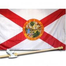FLORIDA 3' x 5'  Flag, Pole And Mount.