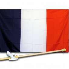 FRANCE COUNTRY 3' x 5'  Flag, Pole And Mount.
