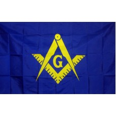 Masonic Blue & Yellow Historical 3'x 5' Flag