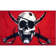 Crimson 3'x 5' Pirate Flag