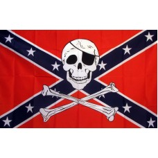 Rebel Pirate 3'x 5' Flag