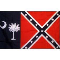 Rebel South Carolina 3'x 5' Novelty Flag