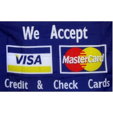 Visa & Mastercard 3'x 5' Advertising Flag