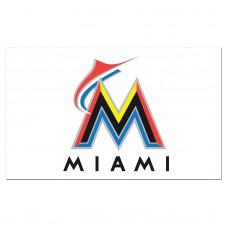 Miami Florida Marlins 3'x 5' Baseball Flag