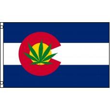 COLORADO / MARAJUANA STATE FLAG 3' X 5' POLY FLAG