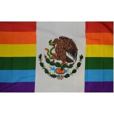 MEXICO RAINBOW 3' X 5' POLY FLAG