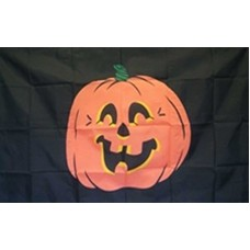 Pumpkin Black 3' x 5' Polyester Flag