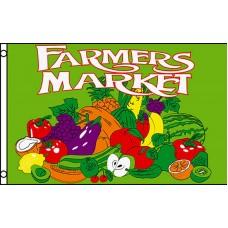 Farmers Market Green 3'x 5' Business Flag