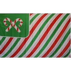 CHRISTMAS USA CANDY CANES & STRIPES 3' X 5' FLAG