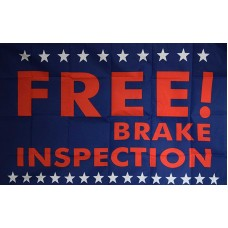FREE BRAKE INSPECTION 3' X 5' FLAG