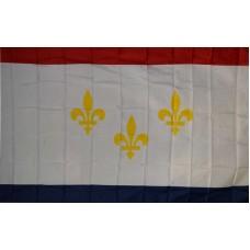 NEW ORLEANS LOUISIANA POLY 3' X 5' FLAG