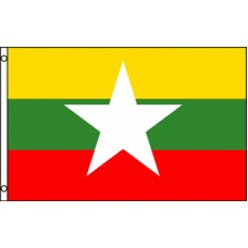 MYANMAR (NEW) COUNTRY POLY 3' X 5' FLAG