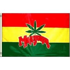 MARIJUANA WITH LEAF RAST BACKGROUND POLY 3' X 5' FLAG