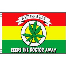 A SPLIFF A DAY KEEPS THE DOCTOR AWAY 3'X5' POLY