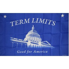 TERM LIMITS POLY 3' X 5' FLAG