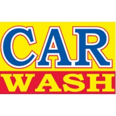 CAR WASH YELLOW / BLUE / RED POLY 3' X 5' FLAG