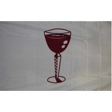 Cocktail Glass White 3' x 5' Polyester Flag