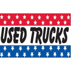 USED TRUCKS RWB BUSINESS STARS POLY 3' X 5' FLAG