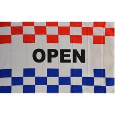 OPEN RWB CHECKERED POLY 3' X 5' FLAG