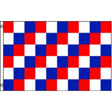 CHECKERED RED / BLUE / WHITE POLY 3' X 5' FLAG