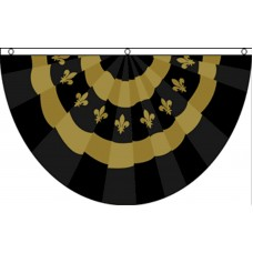 FLEUR DE LIS BUNTING (SHAPED)  POLY 3' X 5' FLAG