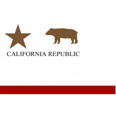 California Republic Plain 3' x 5' Polyester Flag
