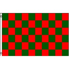 Checkered Red Green 3' x 5' Polyester Flag