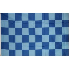 Checkered Dark Blue Light Blue 3' x 5' Polyester Flag