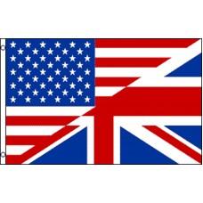 USA UK  Friendship 3' x 5' Polyester Flag