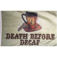 Death Before Decaf 3'x 5' Flag