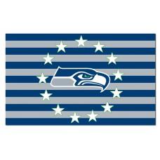 Seattle Seahawks Stars & Stripes 3'x 5' NFL Flag