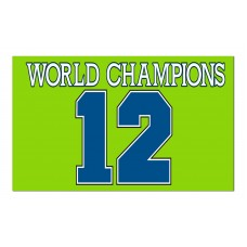 Seattle Seahawks World Champions 12th Man 3'x 5' NFL Flag