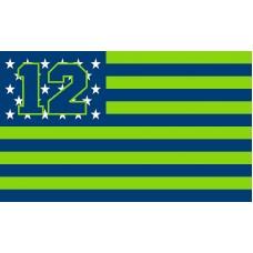 Seattle Seahawks USA Stars & Stripes 3'x 5' NFL Flag