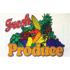 Fresh Produce 3'x 5' Advertising Flag