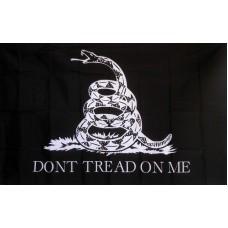 Don't Tread On Me Black & White 3'x 5' Flag