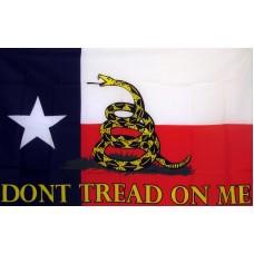 Don't Tread On Me Texas 3'x 5' Flag