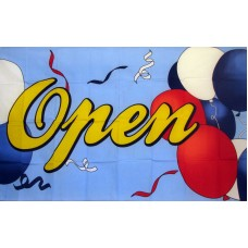 Open Balloons 3'x 5' Advertising Flag