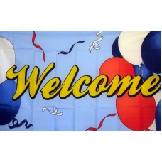 Welcome Balloons 3'x 5' Advertising Flag