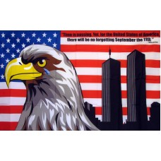 USA No Forgetting 9/11 3'x 5' Flag